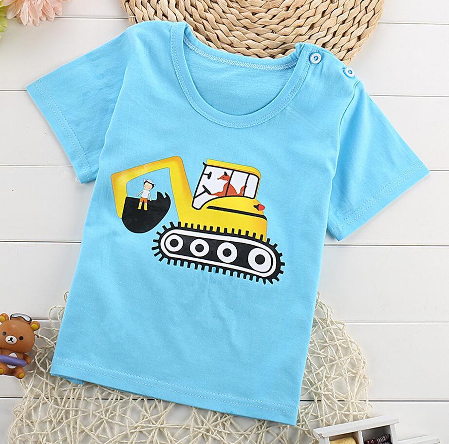 Children Summer T-shirt Boys Girls Tshirt Baby Clothing Cow Sweet Cool Boy Little Boy Girl Summer Cotton Cartoon Clothes 1-4T