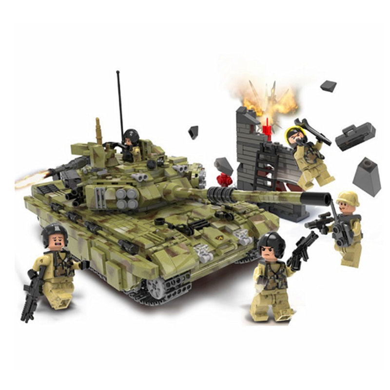 XINGBAO Army Military Russia T90A Panzer Tank Building Blocks Bricks Classic War Model Kids Toy Gift Compatible Legoings mini transportation army military blocks assembled car tank compatible legoingly building brick handmade model toy for kids gift