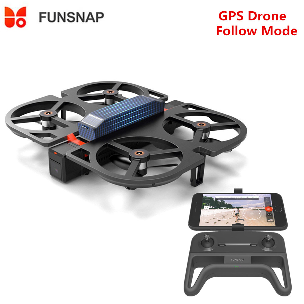 Funsnap Youpin iDol FPV RC Drone GPS Foldable Drone Camera HD 1080P /AI Gesture Control /Follow Mode /Optical Flow Altitude Hold image