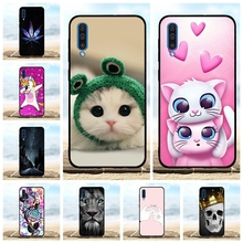 For Samsung Galaxy A50 Case Soft TPU Silicone SM-A505F Cover Cat Patterned Shell
