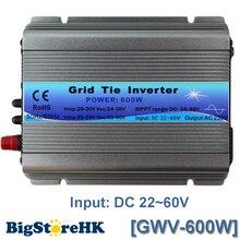 Função MPPT 600 W na grade empate inversor 30 V 36 V painel 60 72 células MPPT pure sine inversor de onda 220 V saída