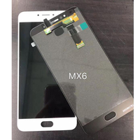 High Quality Black White Tested LCD Display Digitizer Touch Screen Glass Assembly For Meizu MX6 Replacement