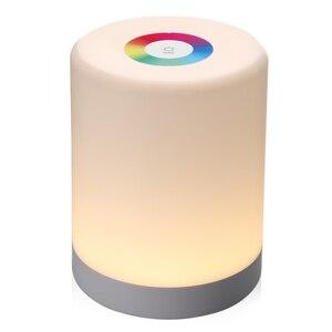 Image 2 - Şarj edilebilir akıllı LED dokunmatik kontrol gece lambası indüksiyon Dimmer akıllı başucu taşınabilir lamba kısılabilir RGB renk değişimi