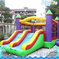Inflatable biggors inflável jumping bouncer com slide duplo para se divertir