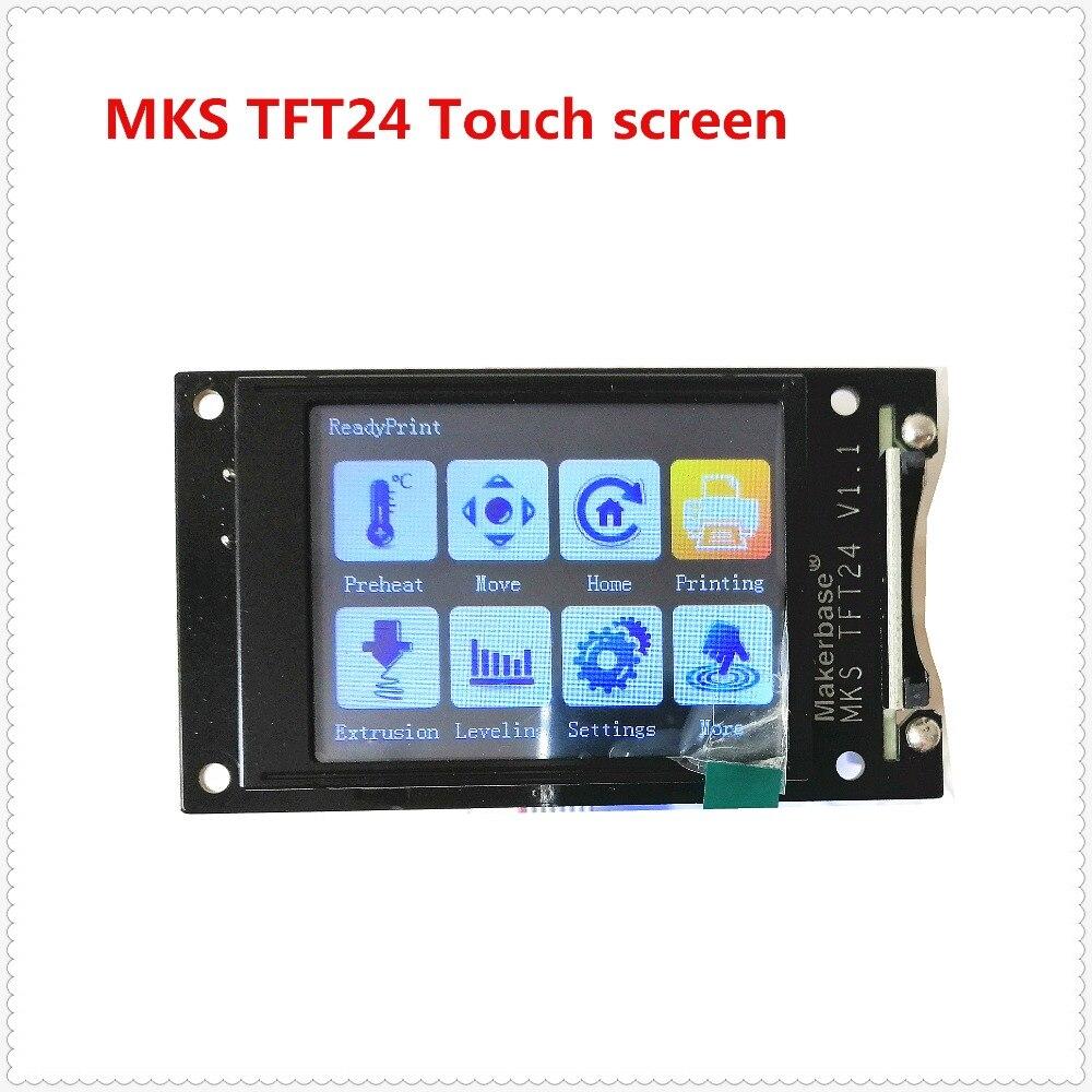 3d elementos de impresión MKS TFT24 pantalla táctil v1.1 RepRap panel Controlador pantalla a todo color de SainSmart pantalla LCD Monitor