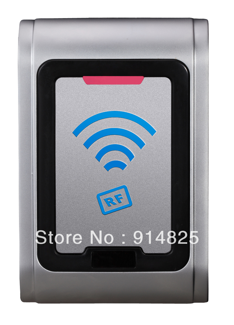 DWE CC RF Free shipping Waterproof metal housing outdoor  125khz  wiegand 26  rfid access control reader support TK4100 card dwe cc rf rfid card reader 125khz emid or 13 56mhz mf wiegand 26 backlight keypad reader for access control system 002p