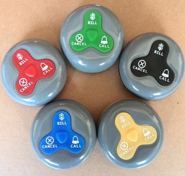10PCS Waiter Call Button for Wireless restaurant buzzer caller table call/calling button waiter pager system wireless calling system hot sell battery waterproof buzzer use table bell restaurant pager 5 display 45 call button