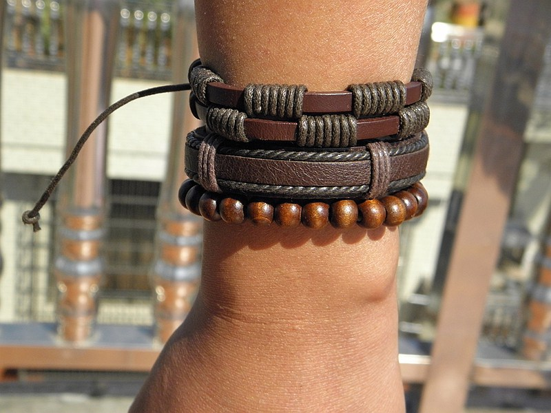 Stylish leather Braid Hemp bracelets Men's Women's Handmade Wood Beads leather Wrap Combined bracelets Jewelry Gifts 3pcs/set 20