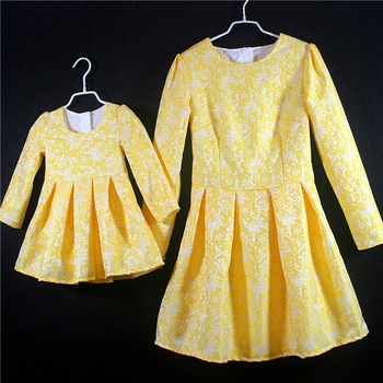 Family matching clothes mother and daugther pleated dress large plus size skirt girls clothing set children mammy and me dresses
