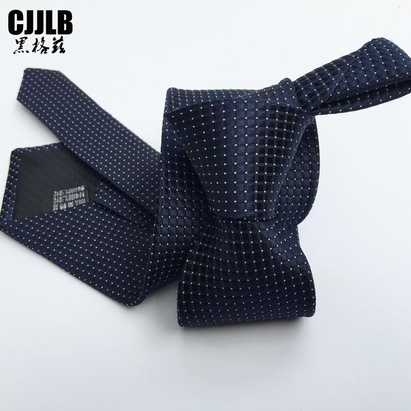Fashion Plaid Tie Mens Ties Formal Business Groom Cheap Neckties Plaids Small Dot Navy Corbata Men 7cm Woven Tie Men Dresses