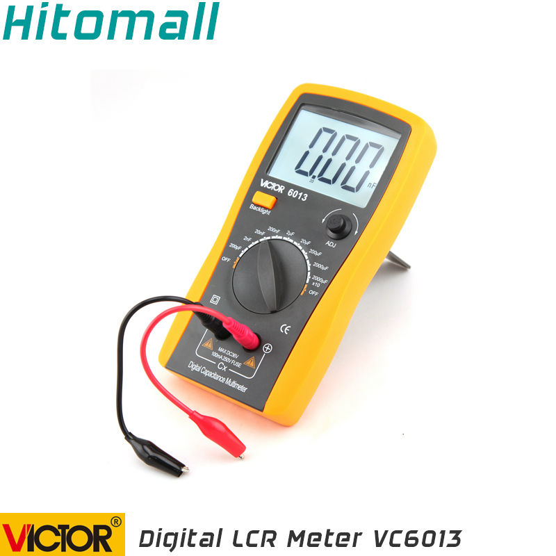 Professional Victor Inductance CAPACITANCE LCR Meter Digital Multimeter Resistance Meter VC6013 my68 handheld auto range digital multimeter dmm w capacitance frequency