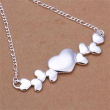 Hot Sell retail cheap Womens Big And Small Hearts Pendants Necklace