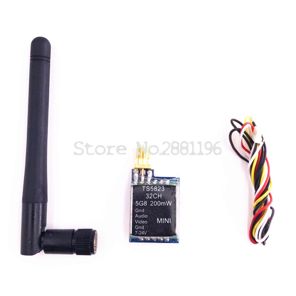 TS5823 Mini FPV Tx Only 7 3g 5 8Ghz 32 CH 48CH 200mW AV Transmitter Module TX TS5823 RP SMA in Parts Accessories from Toys Hobbies