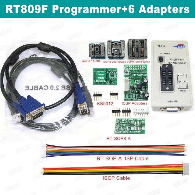 رائجة البيع RT809F شاشة الكريستال السائل ISP مبرمج مع SOP8 Peb لوحة تمديد EDID كابل 1.8 فولت محول وجميع محولات شحن مجاني