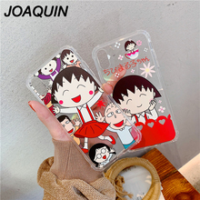 Relief Coque Case For iphone 6 6S 7 8 Plus X Xs Max Xr Case Soft Sakura Momoko Chibi Maruko Chan Cover Flexible TPU Phone Case 14pcs lot japanese anime cartoon chibi maruko chan sakura momoko happy family pvc action figures toys dolls for gift