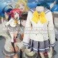 Anime Love Live! luz do sol!! Kurosawa Aqours Rubi Bonito Sailor Suit Cosplay Uniforme Escolar de Verão Lolita Vestido Gilr