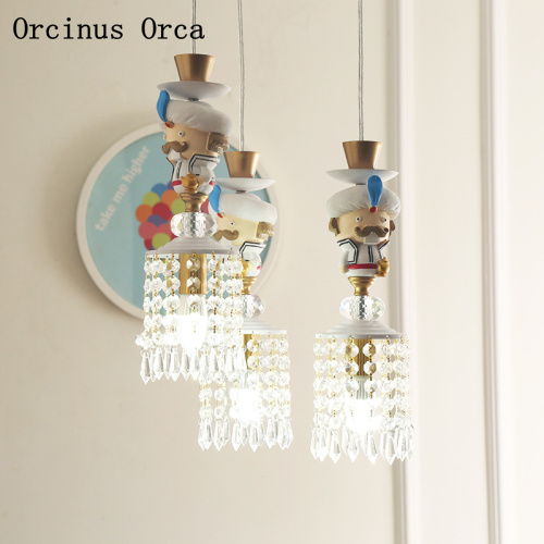 Cartoon Creative Aladdin Elf Chandelier Boys and Girls Bedroom Children's Room Lamp American Personality LED Crystal Chandelier|Pendant Lights| |  - title=