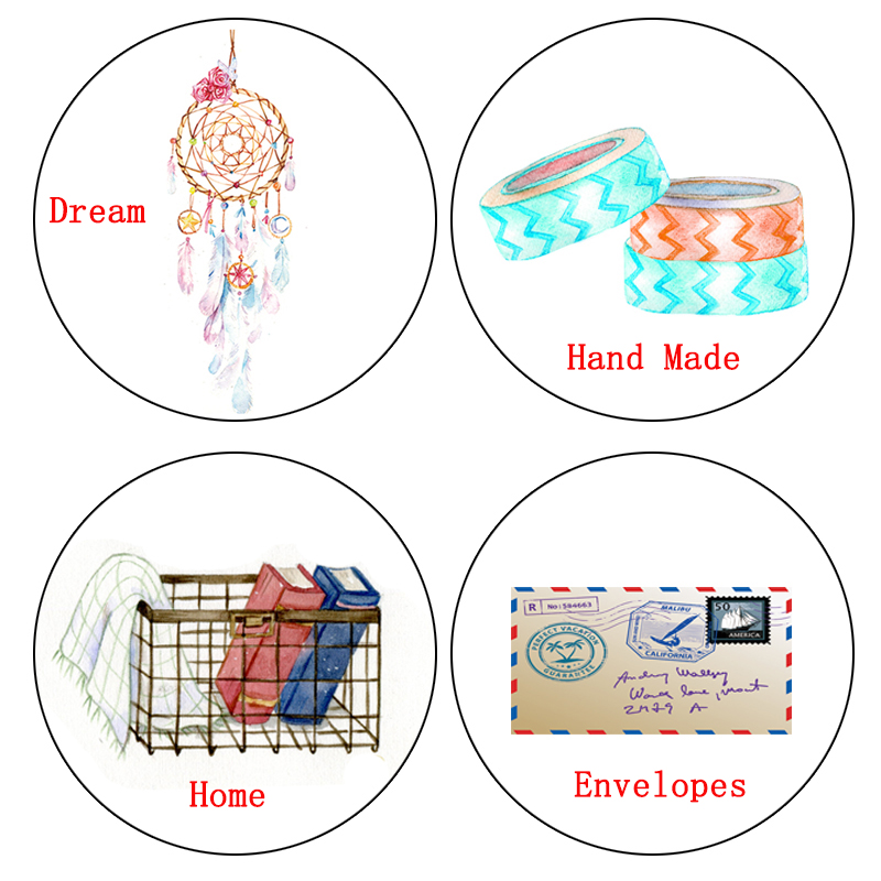 1 Pcs Alideco Washi Tapes Masking Tapes Dreams Hand Made Decorative Adhesive Tapes DIY Paper Scrapbooking Stickers