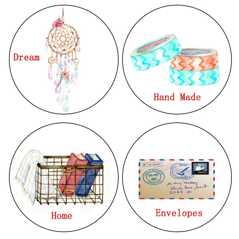1 Pcs Alideco Washi Tapes Masking Tapes Dreams Hand Made Decorative Adhesive Tapes DIY Paper Scrapbooking Stickers
