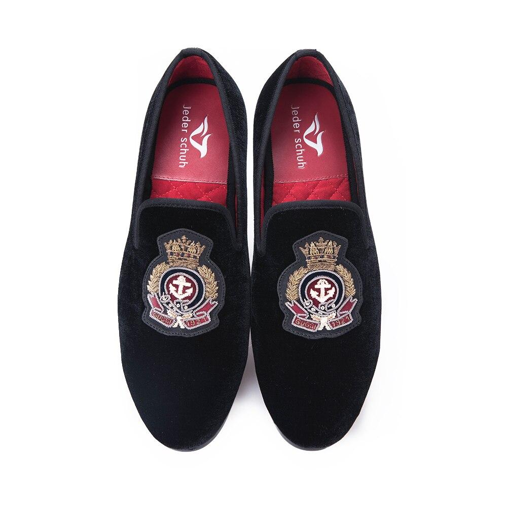 Style Et Velours À La Main Chaussures Mocassins Banquet Nouveau Partie Mâle Bullion Shoes Coudre Broderie Schuh Jeder Appartements Avec Black Hommes BwgqIFc6fE
