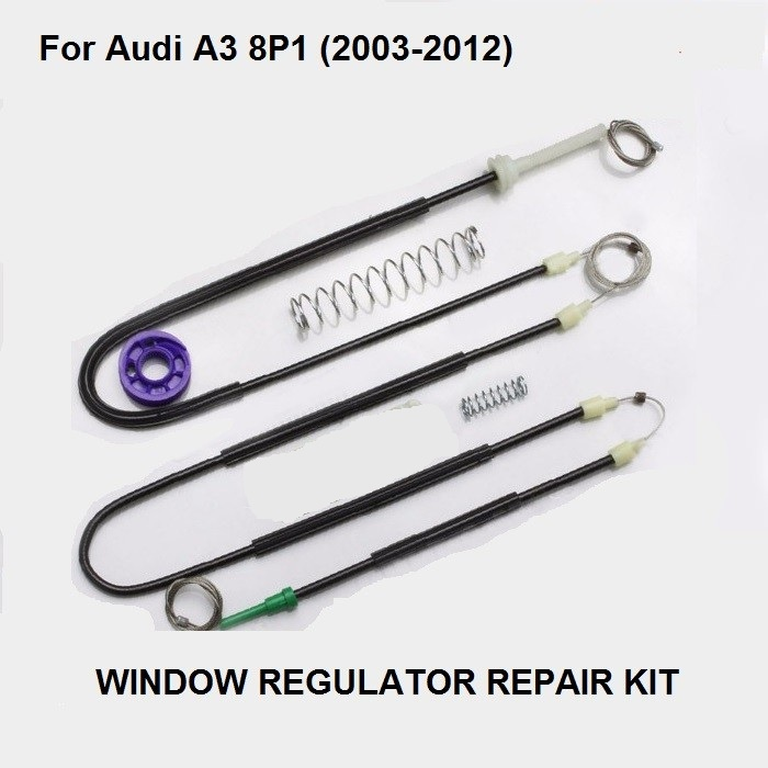 FREE SHIPPING CAR WINDOW PARTS FOR AUDI A3 8P WINDOW REGULATOR REPAIR KIT FRONT RIGHT 2/3 DOORS 2003-2012 NEW