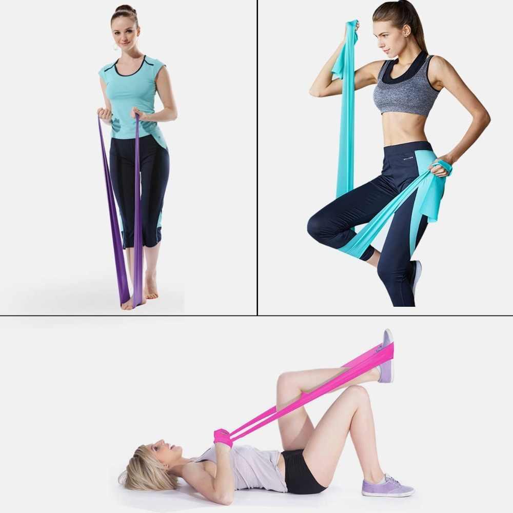 Elastyczne zespoły oporu Expander Stretch ćwiczenia gumką sprzętu Fitness ciągnąć liny siła trening siłownia joga Crossfit