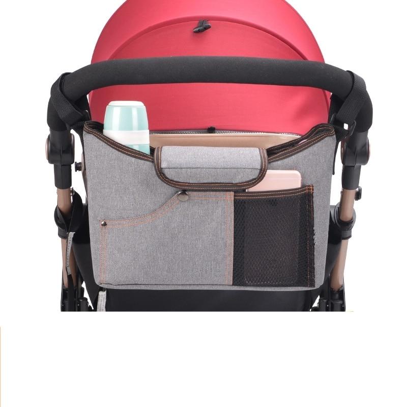 Portable Stroller Bag For Women Baby Diaper For Newborn Mother Bag Infant Crib Bottle Storage Handbag Baby Tote Diaper Organizer