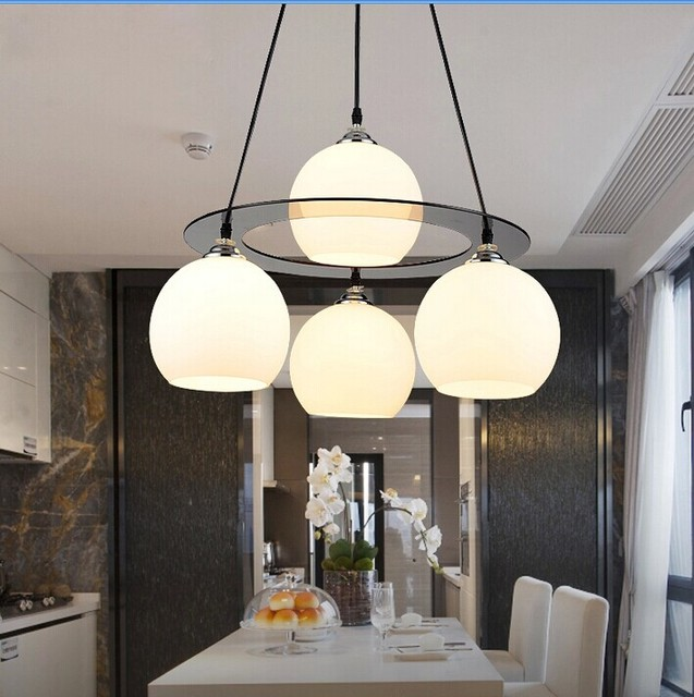 A1 Restaurant Light Simple Modern Creative Chandelier LED Crystal Lamp Three Or Four Round Dining Room