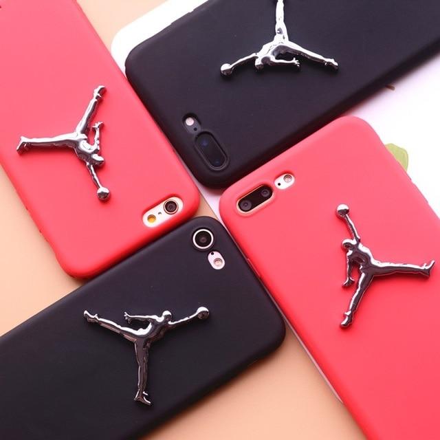 separation shoes 0d745 64a34 3D air jordan for Xiaomi 6 plus 5 5s 5c 5x note 2 3 mix2 max2 redmi 4A 4X  5A matte Silicone TPU case plating Logo Sports cover