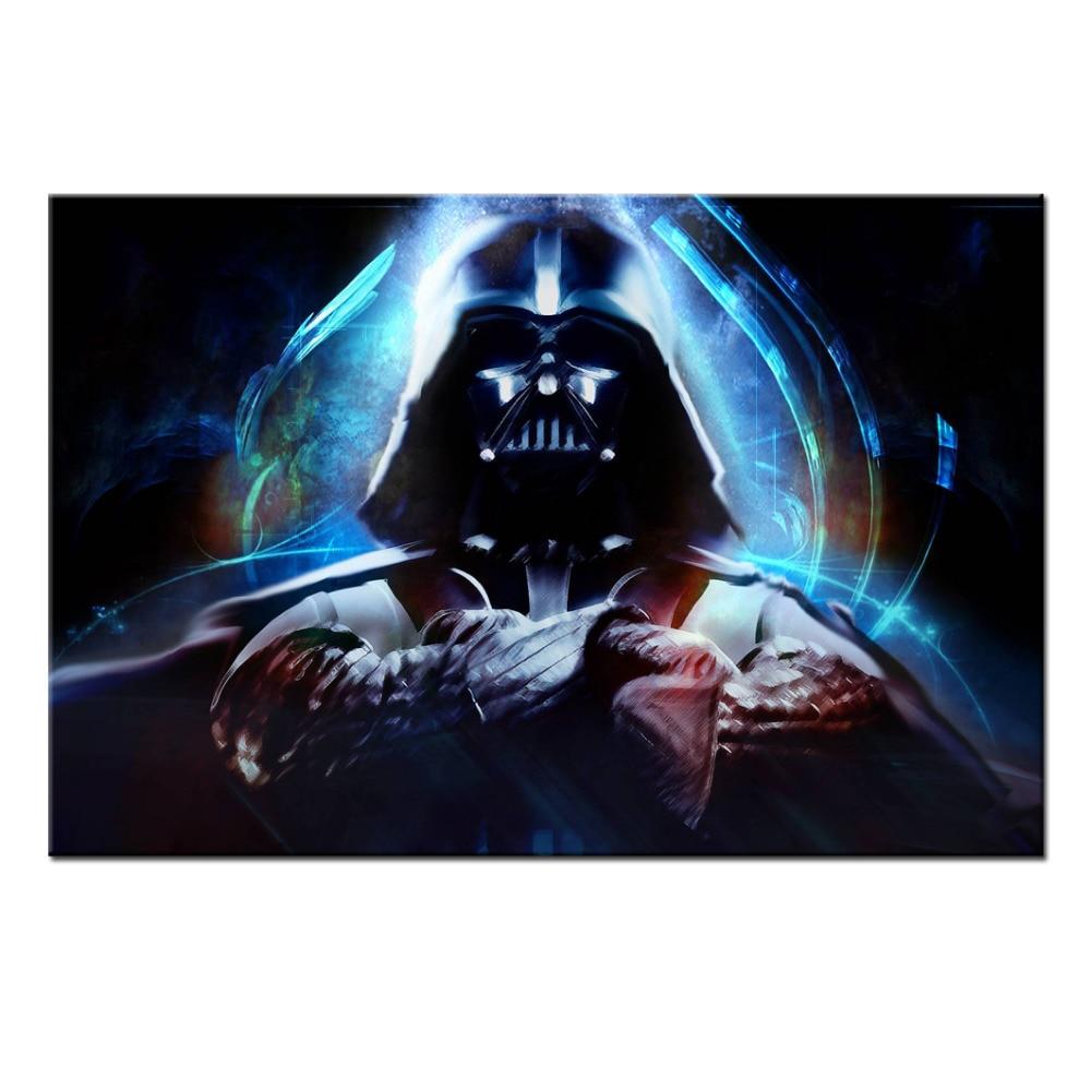 Frameless Modern Abstract Canvas Art Star Wars Darth Vader Poster Wall Decor Canvas Home Decoration 2016 New Wall Artwork 24x36