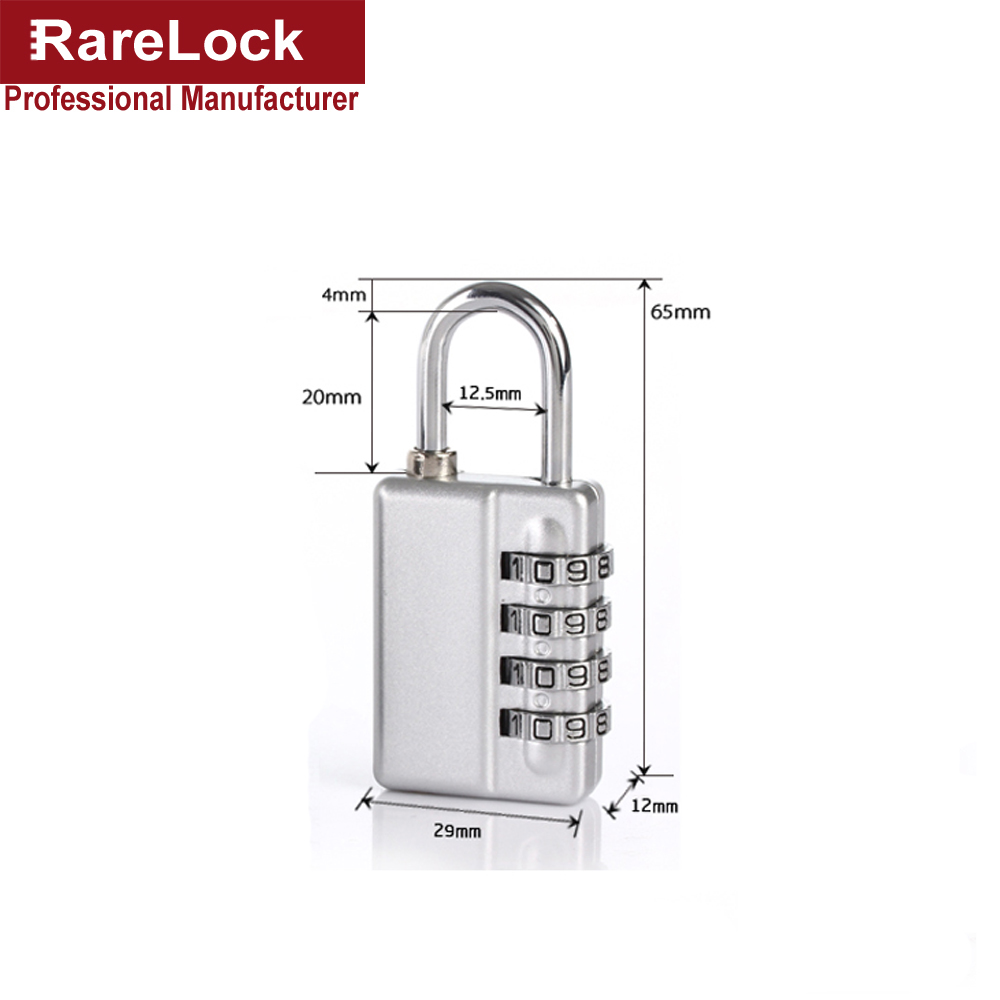 US $12 81 8% OFF|MMS62 new Zinc Alloy 4 group number code Can retrieve  password padlock Multicolor used for door bicycle or boxes b-in Locks from  Home
