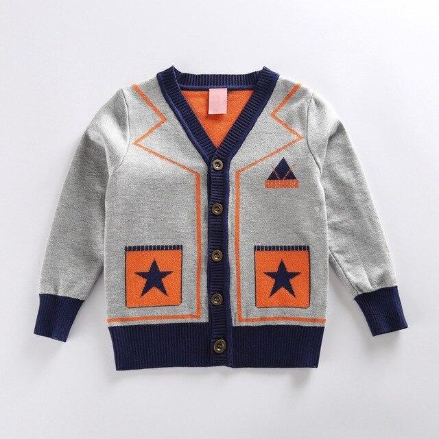 children geometric sweater boy long sleeve jacket coat grey v neck sweater boy girl child baby 2016 winter cardigan boys