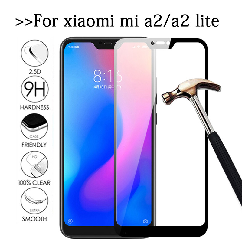 Mi A2 Lite Protective Glass For Xiaomi Mi A2 Lite Glass Screen Protector On Xiomi Xaomi A 2 Light Mia2 A2lite Mia2lite Glas Film
