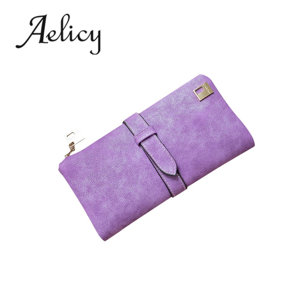Aelicy Fashion Women Girls Leather Clutch Wallet Long Card Holder Purse Billetera Mujer Womens Wallets And Purses Carteira 0825 aim fashion women s long clutch wallet and purse brand designer vintage leather wallets women bags high quality card holder n801