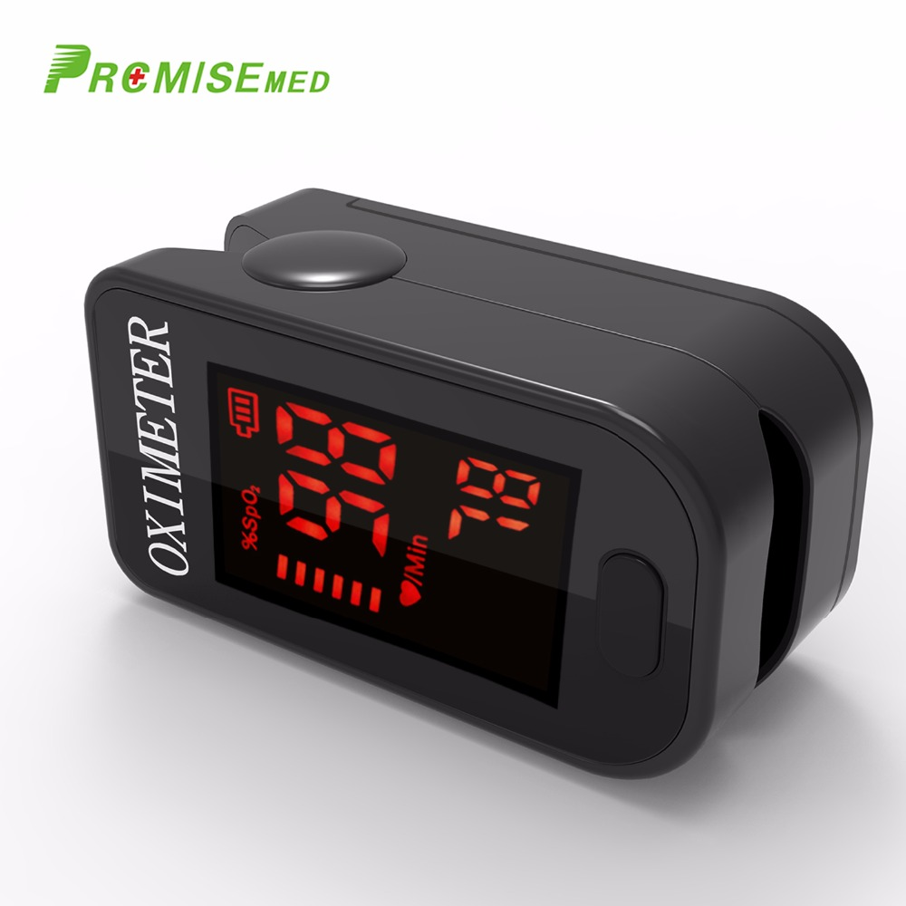 Haushalt Gesundheit Monitore Oximeter CE Medizinische Herz Rate Monitor LED Fingertip Pulsoximeter Finger Blut Sauerstoff-Cool Schwarz