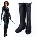 Avengers Batman Black Widow Cosplay Costume Shoes Combat Boots Unisex Customized Free Shipping