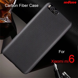 For Xiaomi Mi6 Case Carbon Fib