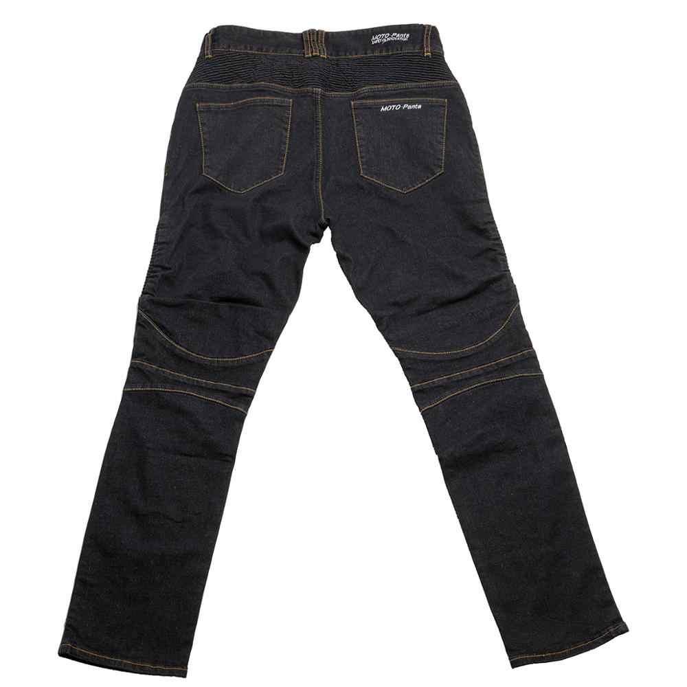 Windproof Off-Road Motorcycle Racing Jeans Biker Pants Men Motorbike Motocross Protective Pants With 4 X CE Armor Knee Hip Pads