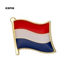 Belanda Bendera Kerah Pin Lencana Pada Pin Bros Perhiasan Rozetten Papiers KS-0076(China)
