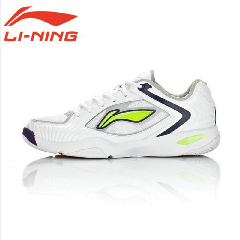 Li Ning New Original Cushion Bounse Badminton Shoes for Men Wear-Resistant Male Sports Platform Sneakers AYAH007 li ning original men sonic v turner player edition basketball shoes li ning cloud cushion sneakers tpu sports shoes abam099