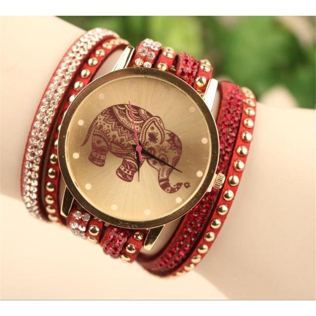 Aimecor Fashion Women Bracelet Watch Ladies Watches Elephant Pattern Round Case Watch Relogio Masculino