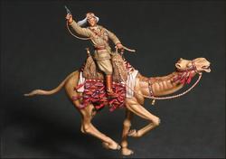 1/35 escala figura de resina oficial britânico montando um camelo