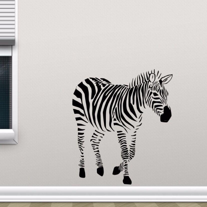 zebra wall decal vinyl wild animal wall sticker removable vinyl