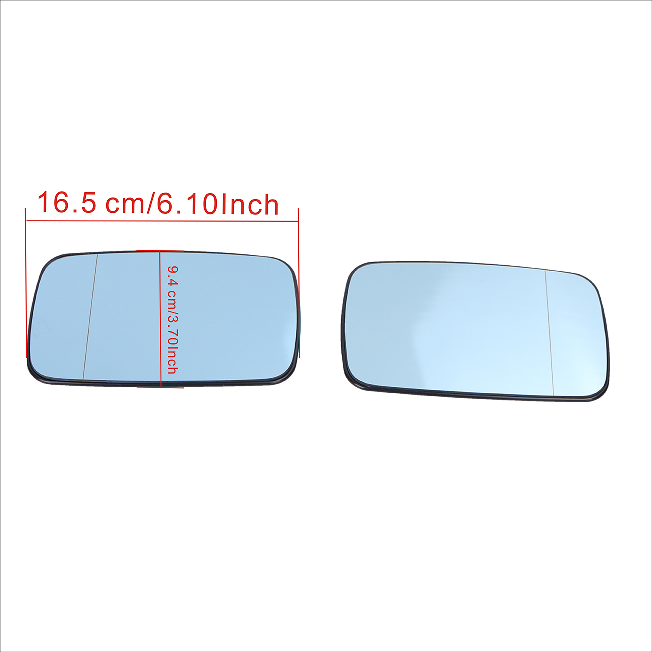 2x voiture bleu chauffage aile couleur claire grand Angle vue rétroviseur lentille verre pour BMW E39 E46 323i 328i 525i 528i 540i # #