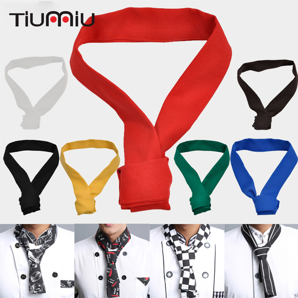Chef Scarf Food Service Chef Tie Hotel Catering Canteen Cafe Waiter Overalls Work Decorative Sweat Towel Chef Uniform 20 Colors
