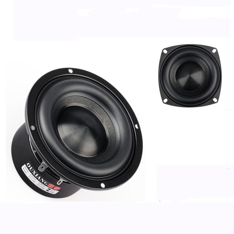 MARGARVEN 4 Inch Speaker 4 Inch Bass Speaker 4 Ohm 20W Black Drill Alumina Ceramic Cap Bass Speaker