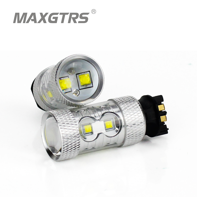 2x Car LED Projector 50W For CREE Chip DRL Daytime Running Light Turn Signal Fog Light Replacement Bulb For Audi a3 a4 a5 q3 good item 2pcs sh23w p13w cree chip led bulb 11w fog running lights drl anti brouillard sans odb abfeux de jour alfa romeo mito