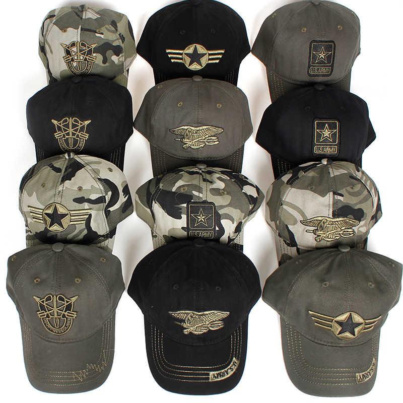 ใหม่ผู้ชาย Navy Seal หมวกคุณภาพสูงกองทัพสีเขียว Snapback หมวกล่าสัตว์ตกปลาหมวกกลางแจ้ง Camo เบสบอล Caps ปรับกอล์ฟหมวก