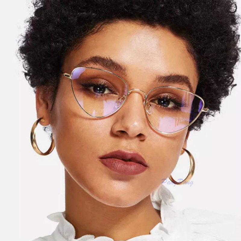2020 Cat Eye Glasses Frame Women Fashion Clear Glasses Lens Myopia Optical Glasses Frame Oculos Feminino Occhiali Da Vista Donna