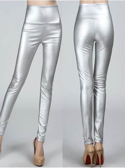 2019 Autumn winter Women legging skinny PU leather pencil Leggings slim faux Leather Pants female fashion thick fleece trousers 18